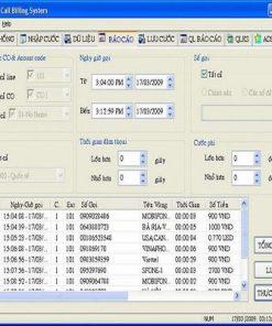 Phần mềm tính cước dùng cho tổng đài ADSUN